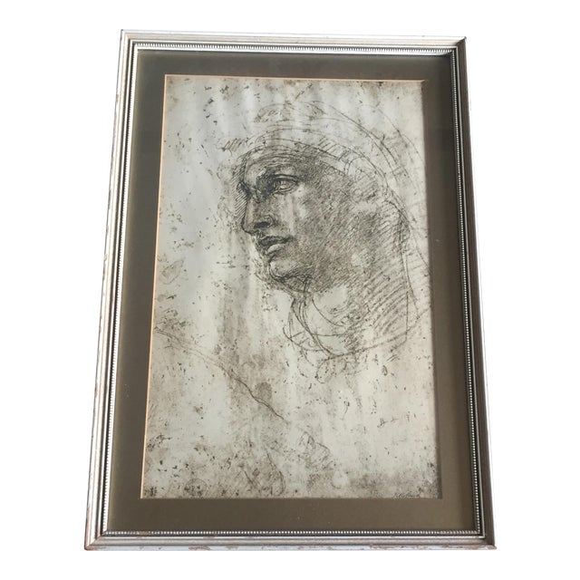 "Michelangelo ""Head of a Youth"" British Museum Fine Art Print - Image 1 of 7"