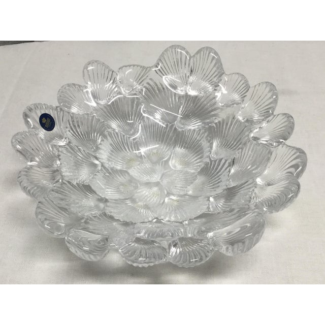 Mid 20th Century 1950s Danish Crystal Clam Shell Bowl by Royal Copenhagen For Sale - Image 5 of 6