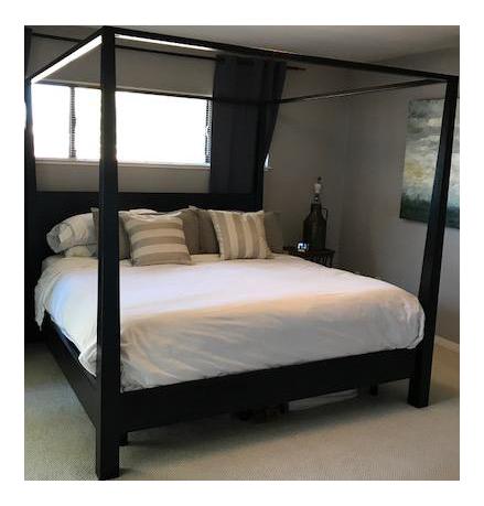 Crate u0026 Barrel Pavillion Black Mahogany Canopy King Bed  sc 1 st  Chairish & Crate u0026 Barrel Pavillion Black Mahogany Canopy King Bed | Chairish