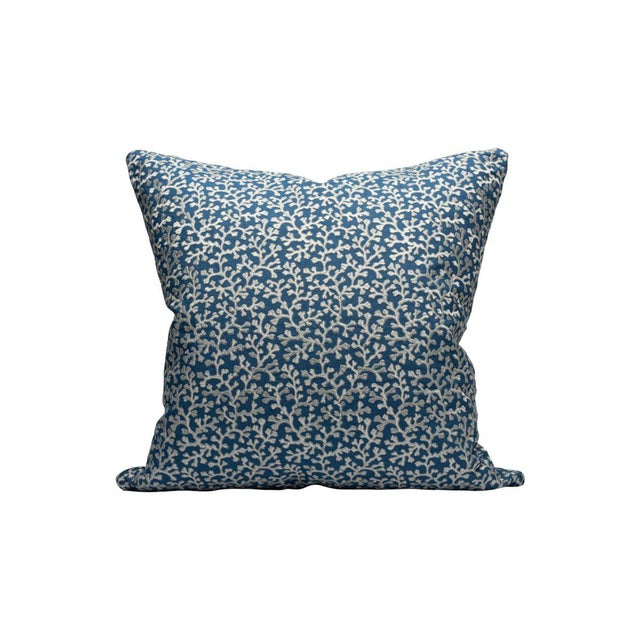 Traditional Hele Bay Pillow, Colbalt For Sale - Image 3 of 3