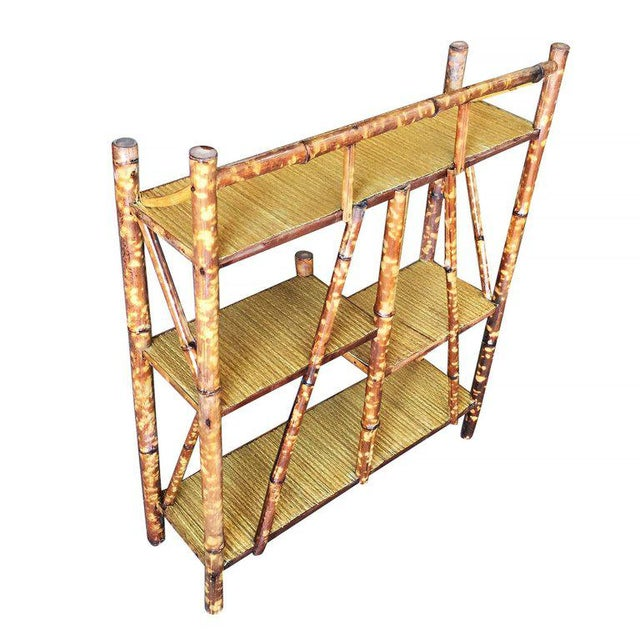 Tiger Bamboo Four-Tier Bookshelf - Image 5 of 5
