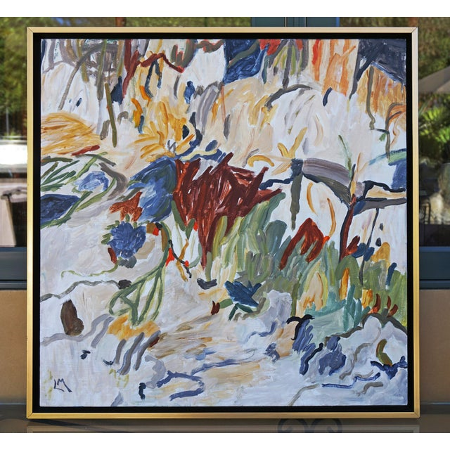 """""""Outside My Window"""" Contemporary Abstract Acrylic Painting by Laurie MacMillan, Framed For Sale In Los Angeles - Image 6 of 6"""