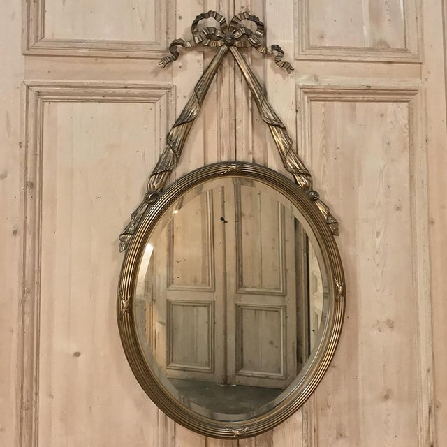 Antique French Louis XVI Gilded Mirror For Sale - Image 11 of 11