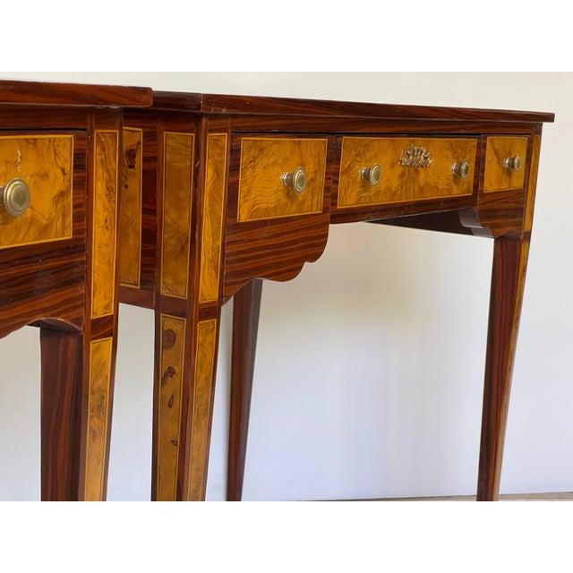 Pair of Italian Burl Wood Writing Tables For Sale In Atlanta - Image 6 of 13