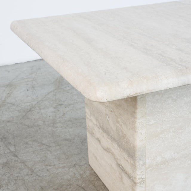 Italian Travertine Coffee Table For Sale - Image 4 of 6