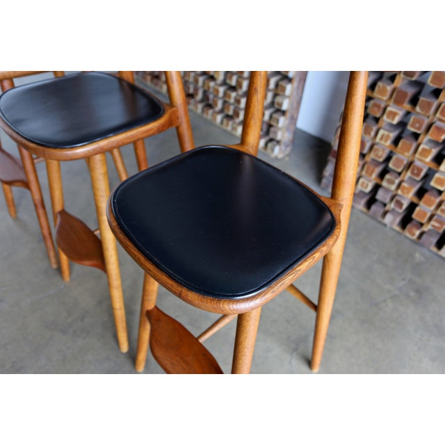 1950s Vilhelm Wohlert for Stolefabriken Odense Danish Stools- Set of 3 For Sale - Image 5 of 13
