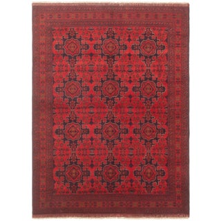 """5'9"""" X 7'9"""" Hand-Knotted Afghan Tribal Rug- 5′9″ × 7′9″ For Sale"""