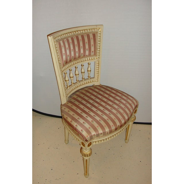 Jansen Style Side Chairs - Pair For Sale - Image 4 of 10
