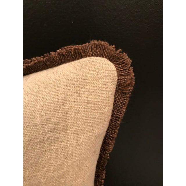 2010s Safari Linen & Cotton Applique Cheetah Pillow For Sale - Image 5 of 9