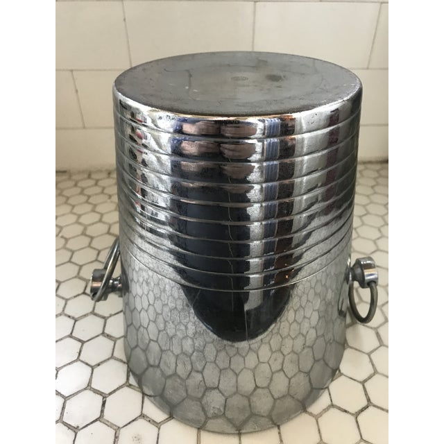 Vintage French Art Deco Andre Leroy Champagne Bucket For Sale - Image 4 of 12