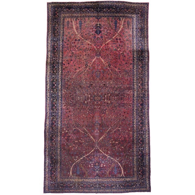 Captivating Antique Persian Mashhad Gallery Rug in Jewel Tone Colors For Sale - Image 10 of 10