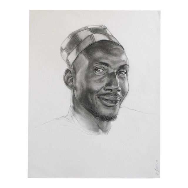 'Terry' Charcoal Study Drawing - Image 1 of 5