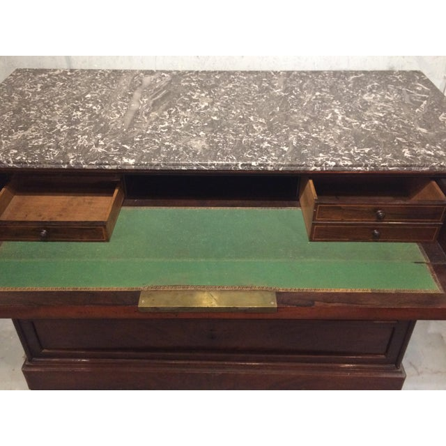 Early 19th Century Louis Philippe Three Drawer Desk Commode For Sale - Image 5 of 11