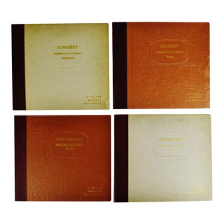 Vintage a Victor Musical Masterpiece Tschaikowsky & Schubert 78 Rpm Record Sets For Sale