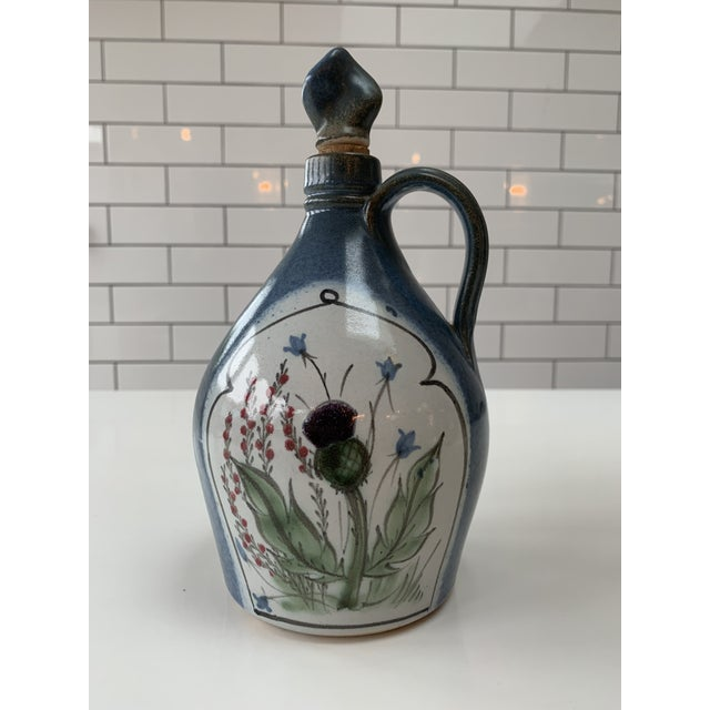 Paint Vintage British Hand Painted Jug For Sale - Image 7 of 7