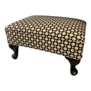 Schumacher Betwixt Vintage Foot Stool For Sale