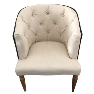 Mid Century Canvas Empire Chair For Sale