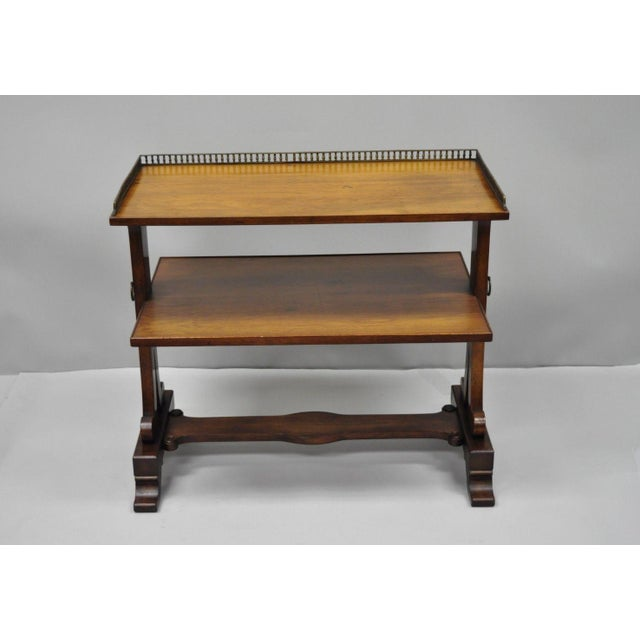 Old Colony Empire Regency Style Tier Walnut Serving Table Chairish - Old fashioned side table