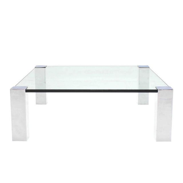 Large Square Mid-Century Modern Coffee Table For Sale In New York - Image 6 of 7