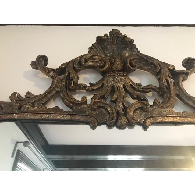 Gold 1970s Vintage Milch Carved Giltwood Mirror For Sale - Image 8 of 13