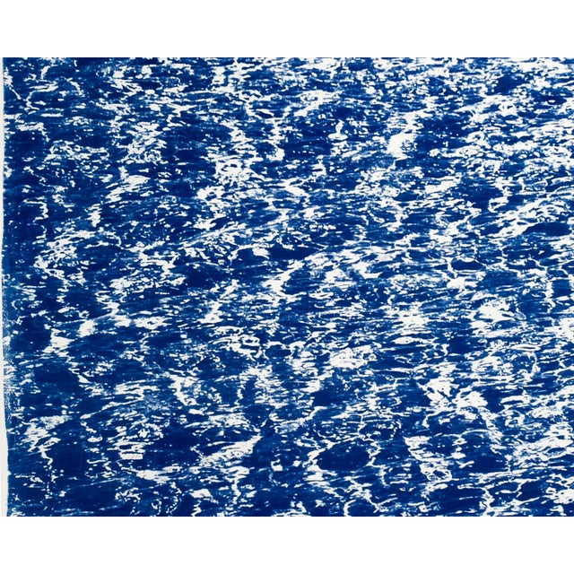 """Watercolor Triptych """"The Cove"""" / Cyanotype Print on Watercolor Paper / Limited Edition / 100 X 210 CM For Sale - Image 7 of 12"""