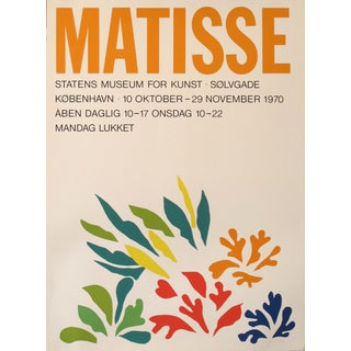 1970 Original Exhibition Poster, Matisse, Kobenhavn (Copenhagen) For Sale