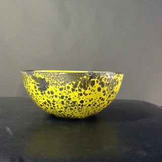 Yellow Distressed 1960s Danish Enameled Bowl Preview