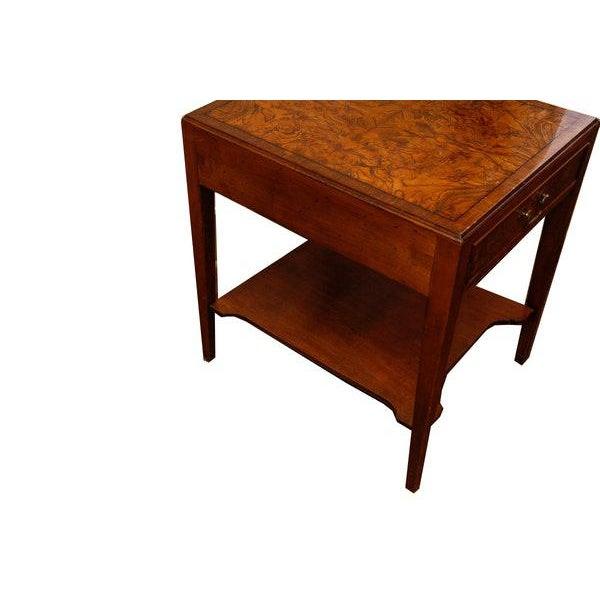Mid 20th Century Mid-Century Modern Burlwood Side Table For Sale - Image 5 of 6