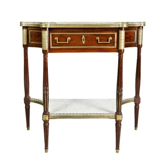 Directoire Mahogany and Brass-Mounted Console Desserte For Sale