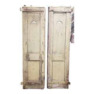 18th Century Antique Wooden Shutters - a Pair For Sale