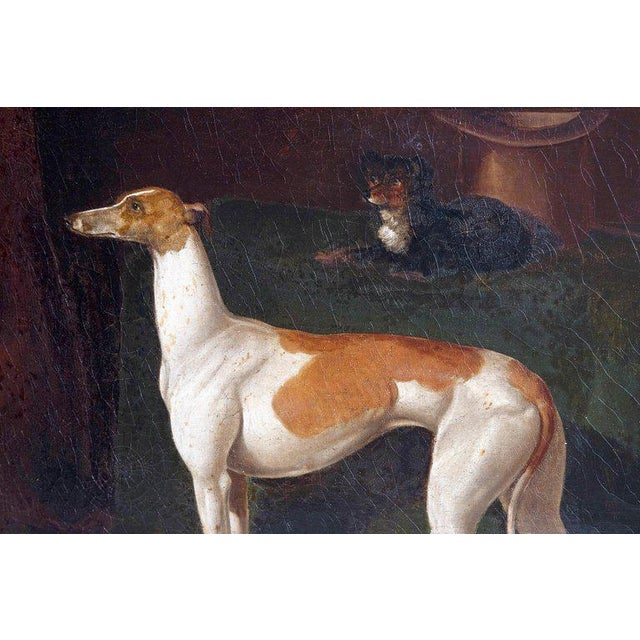 Early 19th Century Early 19th Century English Whippet Oil Painting For Sale - Image 5 of 13