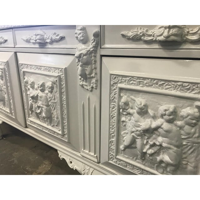 White Lacquered Modern Refurbished Side Board or Console - Image 3 of 7