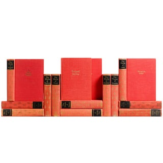 Red & Coral Vintage Classic Books - S/14 For Sale