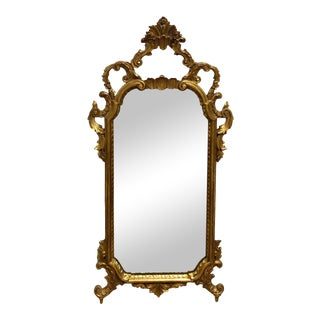 Antique Gilt Wood & Gesso Filigree Mirror For Sale