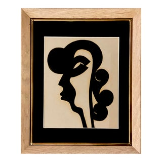 Contemporary Abstract Framed Portrait Painting For Sale