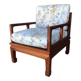 Vintage Chinoiserie Arm Chair For Sale
