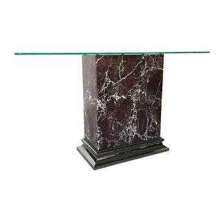 Stunning Mastercraft Marble and Nickel Console Table For Sale