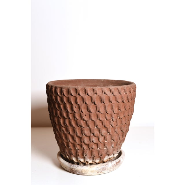 Contemporary Vintage Stan Bitters Signed Thumb Pot Planter For Sale - Image 3 of 9