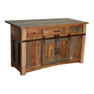 Crafters and Weavers Bayshore Kitchen Island For Sale