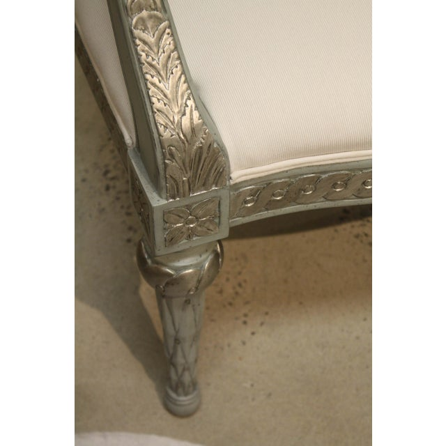 Swede Collection Swedish Guilloche Carved Armchair For Sale - Image 4 of 8