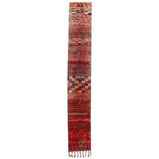 "Vintage Moroccan Rug, 3'4"" X 20'2"" For Sale"