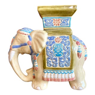 Hollywood Regency Chinese Elephant Plant Stand For Sale