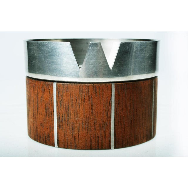 1960s Walnut and Pewter Ashtray by Paul Evans For Sale - Image 5 of 7