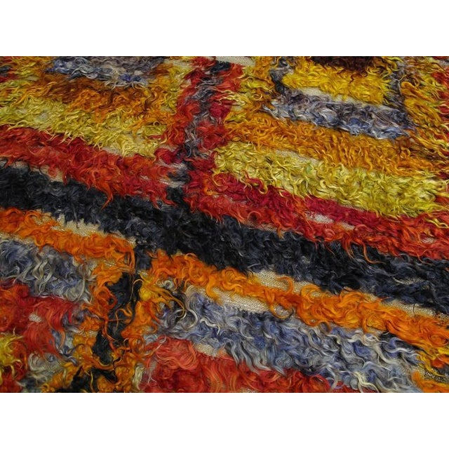 Textile Four Squares, Angora Tulu Rug For Sale - Image 7 of 10