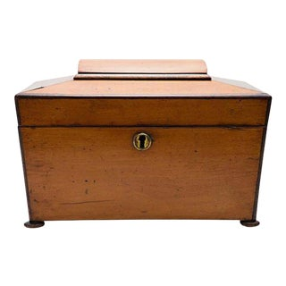 19th Century Satinwood Teacaddy For Sale