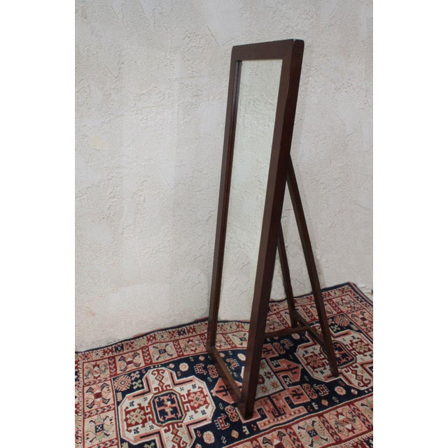 Pottery Barn Stinson Floor Mirror with Easel Back | Chairish