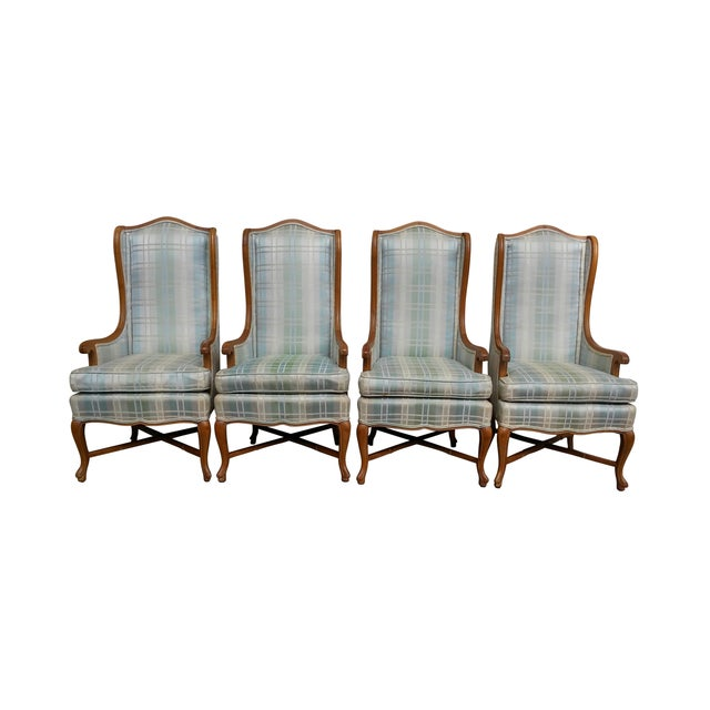 Century Wingback Dining Chairs - Set of 4 - Image 1 of 9