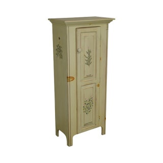 American Heritage Thyme and Marjoram Painted Single Door Jelly Cupboard For Sale
