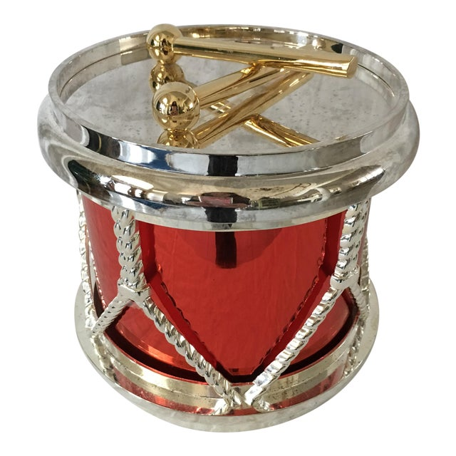 Godinger Silverplate Drum Ice Bucket For Sale