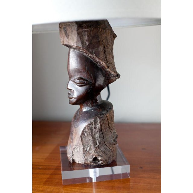 Carved Ebony Early 20th Century African Figure Lamp - Image 5 of 6